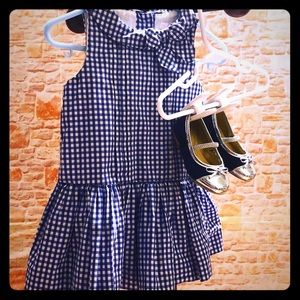 Janie And Jack Set Dress 6-12 Months shoes size 4